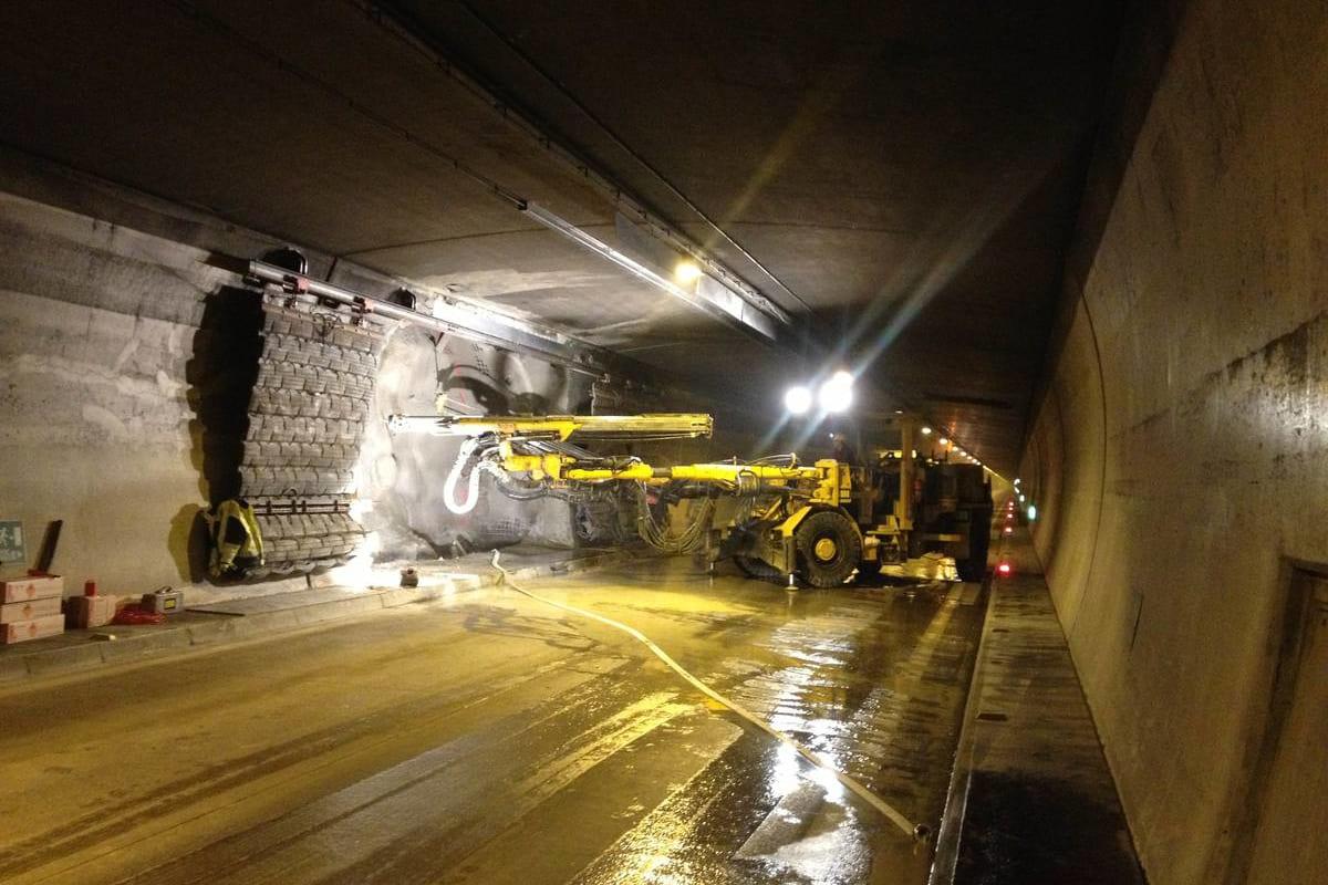 Spritzbeton Tunnel